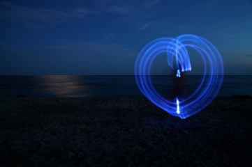 Light painting plage1