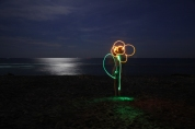 Light painting plage2