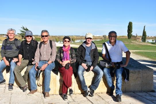 Sortie Palavas, de gauche à droite : William, Jean, Patrice, Françoise, Sébastien, Patrick