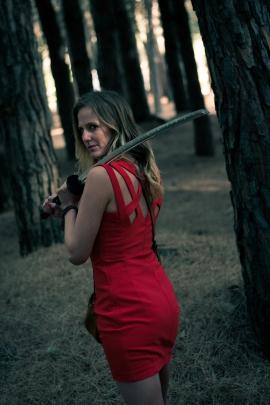Photo : Laurent Thomas Atelier samedi sur le thème du portrait, ici avec Morgane en petit chaperon rouge armé ;-)