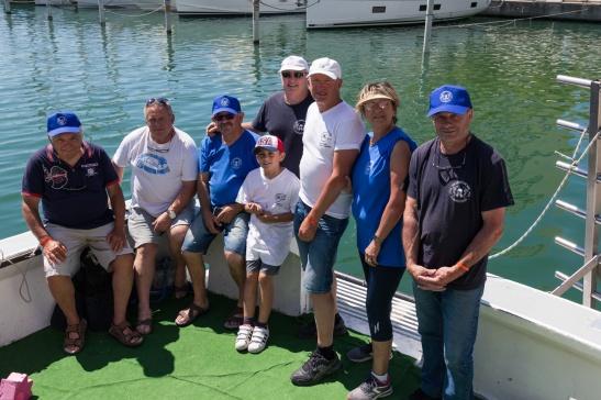 Membres de l'association Les Loups de Mer
