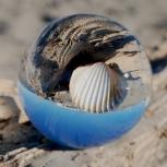 Sphère en verre - Photo par Dominique Henaff